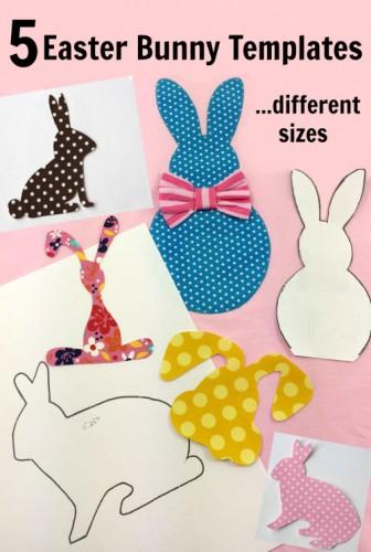 5 Free Bunny Applique Templates