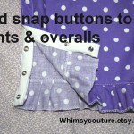 How To Add Snap Button Tape To Pants & Overalls – Free Tutorial