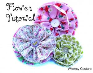 Free Fabric Flower Tutorial