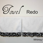 Tutorial – Towel Redo With Added Ruffles