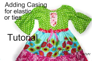 sewing tutorial for adding elasticized ribbon belts