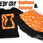 Free Applique & Tutorial – A Scaredy Cat For Halloween