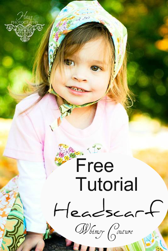 Free Tutorial - Reversible Headscarf - Whimsy Couture Sewing Patterns
