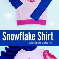 Free Snowflake Applique Shape