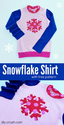Free snowflake applique' template for download