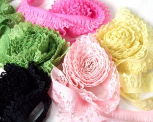 Elastic Lace As Decorative Embellishment For Knit Garments