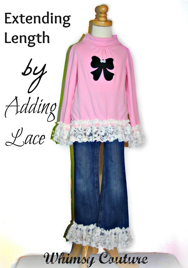 extending length by adding lace