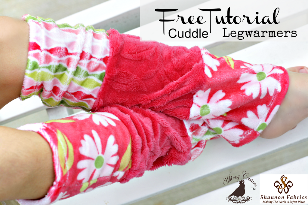 Free Leg Warmer Sewing Pattern - Made With Cuddle Fabric - Whimsy ...