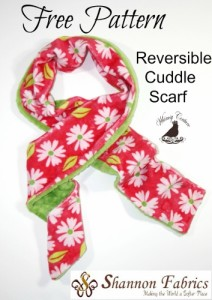 Free Cuddle Fabric Scarf Sewing Pattern