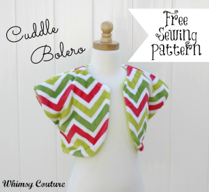 Free Cuddle Bolero Sewing Pattern Whimsy Couture
