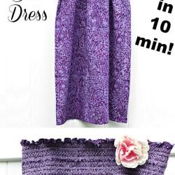Free Sun Dress Tutorial – Make It In 10 Minutes!