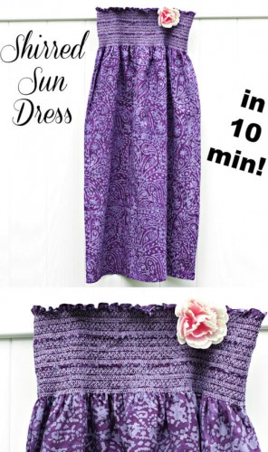 Free Sun Dress Tutorial. Sew it in only 10 minutes | Whimsy Couture