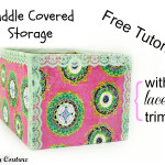 Free Tutorial – Cuddle Fabric Covered Storage Box