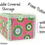 Free Tutorial – Cuddle Fabric Covered Storage Box