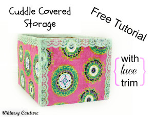 Cuddle covered cardboard box free tutorial | Whimsy Couture