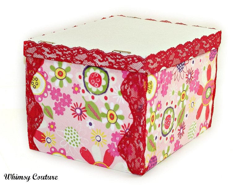 Fabric Covered Storage Box Tutorial | Whimsy Couture