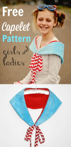 Free Capelet Pattern for girls and ladies