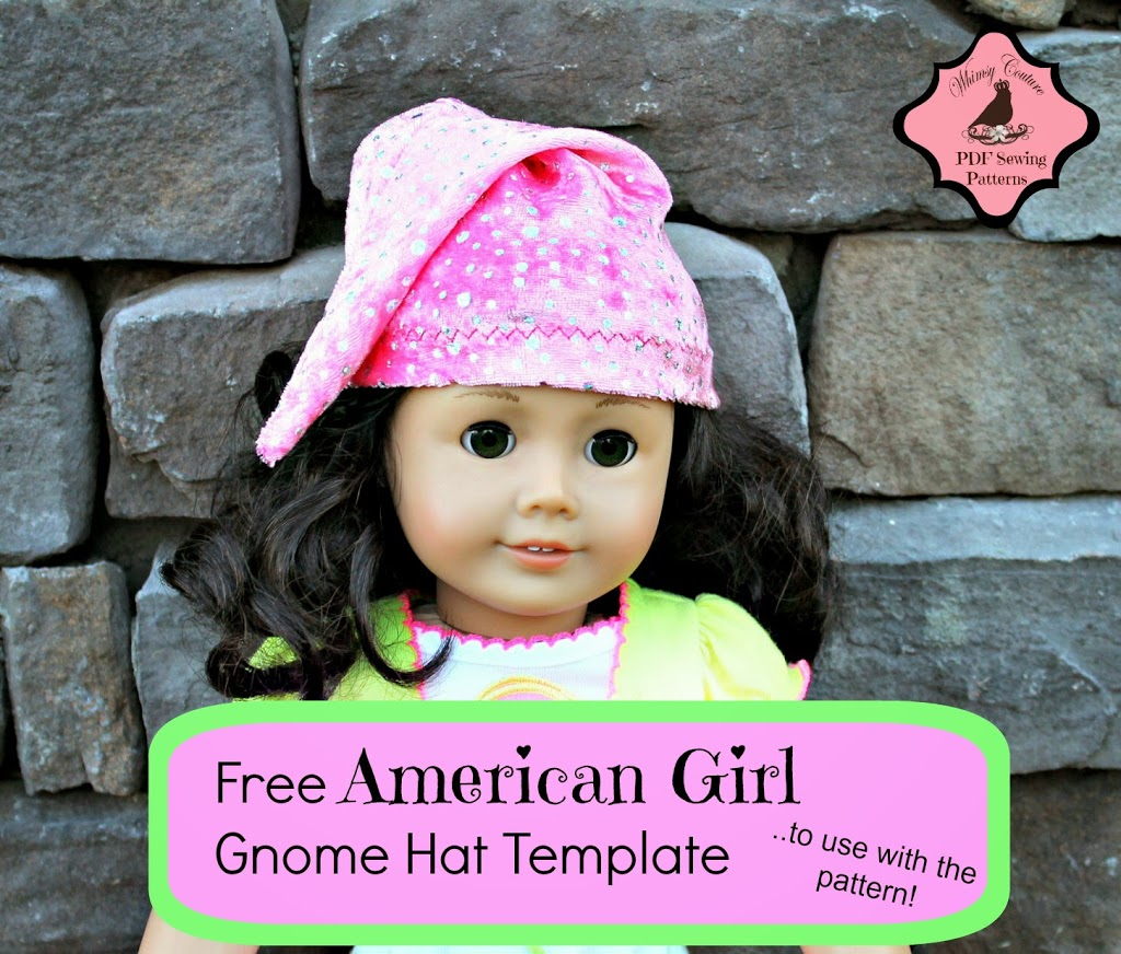 free american doll gnome hat template whimsy couture sewing patterns