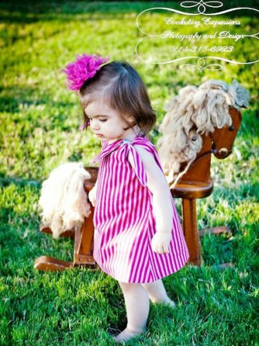 A-line Tunic Dress Pattern for girls Whimsy Couture.