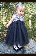 Almost Famous Tulle Dress Pattern for Girls. Whimsy Couture (1)