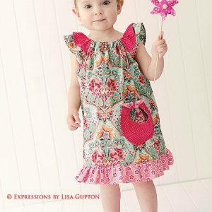 Angel Wing Sleeve Dress Pattern for girls.