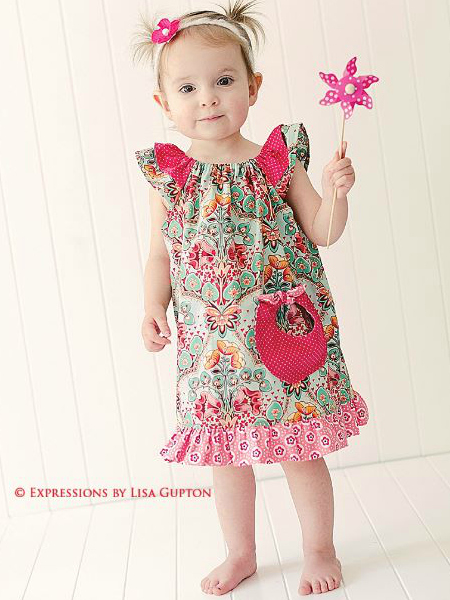Angel Wing Sleeve Dress Pattern Whimsy Couture Sewing Patterns New Toddler Girl Dress Patterns