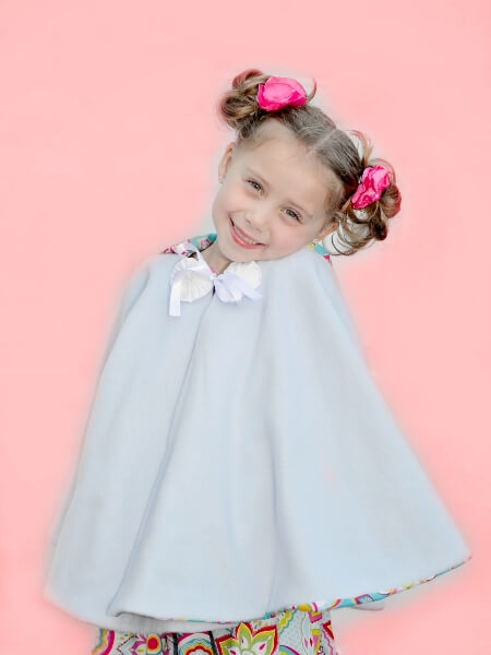 Girls cape sewing pattern by Whimsy Couture (1)