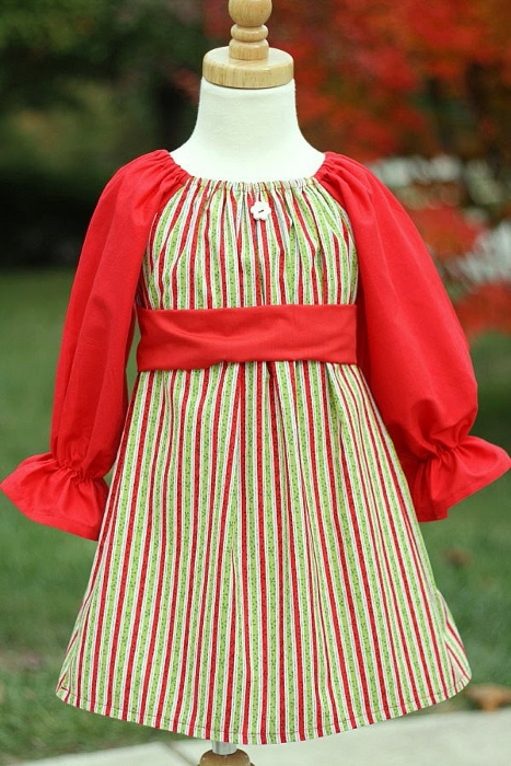 Christmas Peasant Dress Sewing Pattern