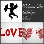 Free Valentine's Day Applique Shapes