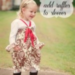 Free Tutorial How To Add Ruffles To Sleeves