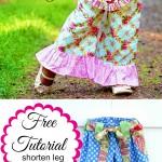 Free Tutorial – How To shorten A Leg Template To Make Shorts