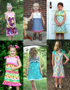 Cutest sun dress pattern for girls. This dress sewing pattern is downloadable and perfect for summer | Whimsy Couture