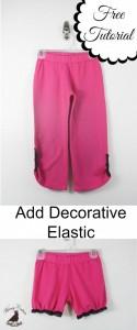 Add Decorative Elastic To Pants