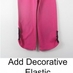 Add Decorative Elastic To Pants