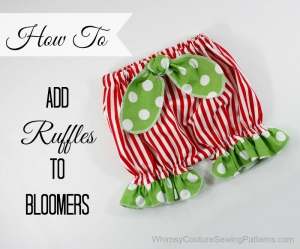 how to add ruffles to bloomers tutorial .