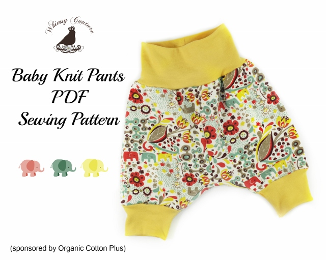 Free PDF Sewing Pattern For Baby Knit Pants - Whimsy Couture Sewing ...
