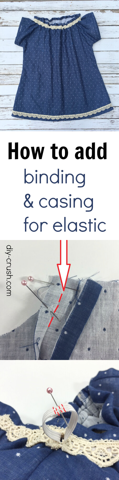 How to add binding & casing for elastic