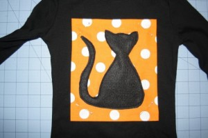 Halloween Scaredy Cat Applique Pattern   Whimsy Couture