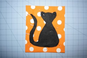 Halloween Scaredy Cat Applique Pattern | Whimsy Couture