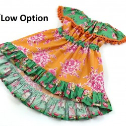 Celebration Dress Sewing Pattern with hi low option by Whimsy Couture
