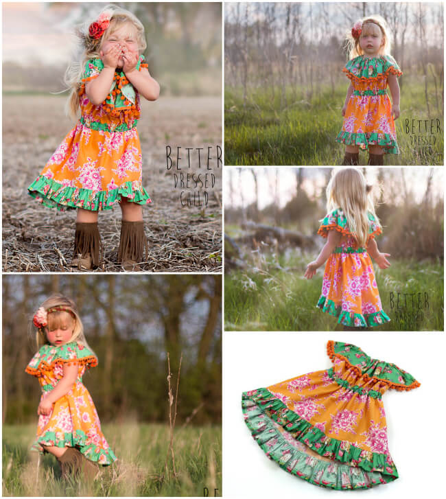 Celebration Girls Dress Pattern by Whimsy Couture