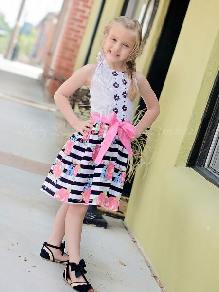 Girls Halter Dress Sewing Pattern - Fiorella - Whimsy Couture Sewing ...
