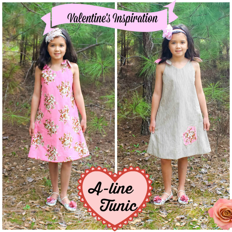 ALine Tunic Dress Pattern For Girls Whimsy Couture Sewing Mesmerizing A Line Dress Pattern