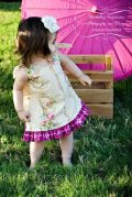 A-line Tunic Dress Pattern for girls Whimsy Couture