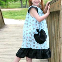 Angel Wing Sleeve Dress Pattern for girls