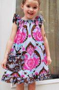 Angel Wing Sleeve Dress Pattern for girls