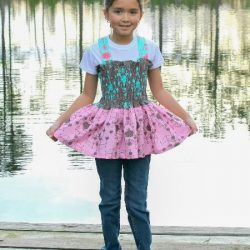 Bow twirl top and dress sewing pattern