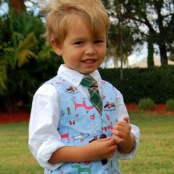 Boys vest sewing pattern with girls option.