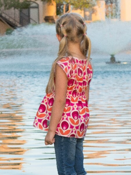 Girls boho tunic sewing pattern.