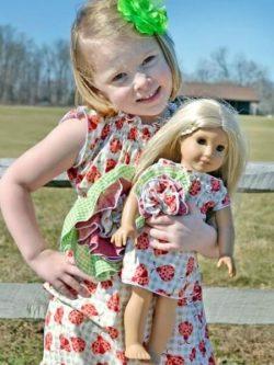 Girls dress sewing pattern. Downloadable Bohemia Flower dress pattern. Very easy to sew!